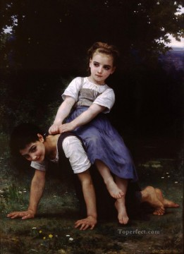 oil Works - La bourrique oil on canvas Realism William Adolphe Bouguereau